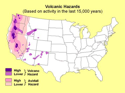 map of volcanoes in the united states washington volcano map