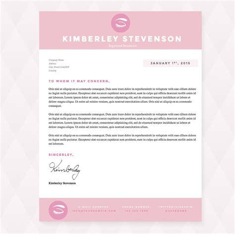 Crisp Pink Resume Cover Letter Pkg Resume Templates On Creative Market Pink Resume Template Free