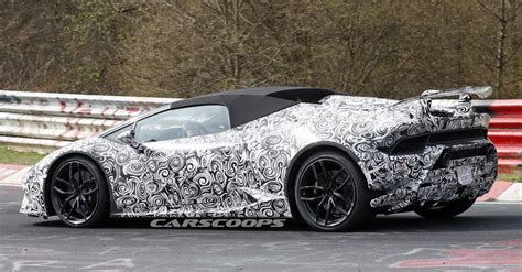 Open Lamborghini Open Top Lamborghini Huracan Performante Spied Screaming