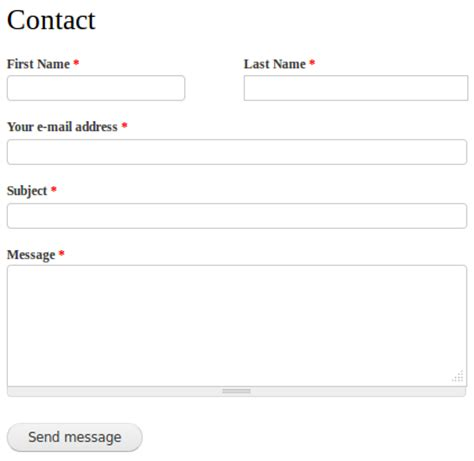 contact html template civicrm contact form integration drupal org