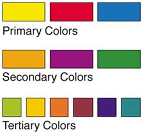 list of primary colors color theory