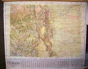 relief map colorado the jeppesen color relief map of colorado by