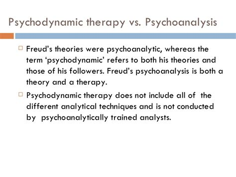 therapy theory psychodynamic approach