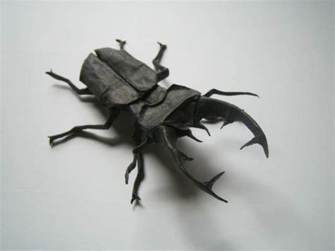 origami beetle lucanus cervus