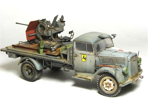 opel blitz with flak 38 opel blitz aa version by przemyslaw mrozek 183 putty paint