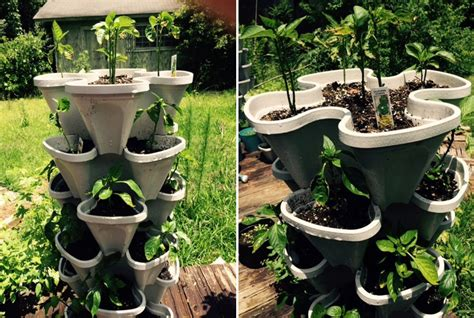 Mr stacky vertical 5 tier strawberry herb flower planter so that s cool