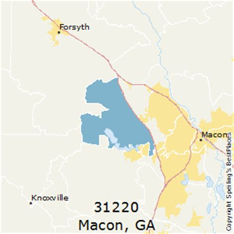 macon zip code map best places to live in macon zip 31220