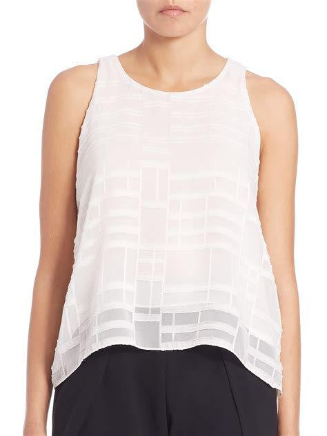 Lace Up Tank Top jonathan simkhai lace up texture tank top in white lyst