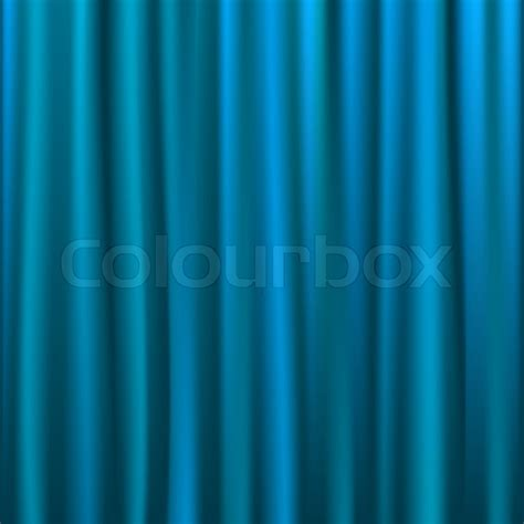 blue satin curtains blue silk curtain vector illustration stock vector