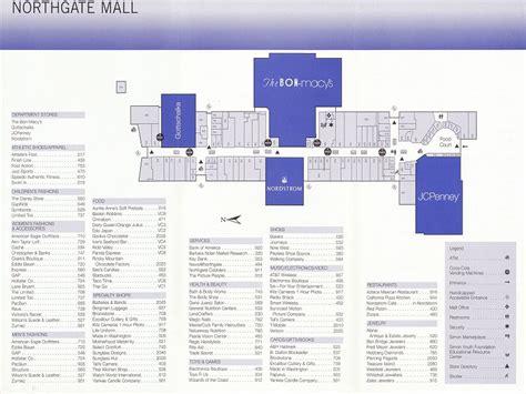 layout of northgate mall the mallmanac old school shops northgate mall seattle wa