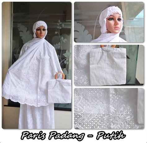 Mukena Katun Bordir Khadijah Putih jual mukena katun padang putih bersih motif cantik