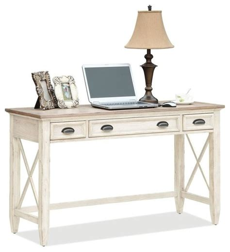 coventry two tone writing desk with 2 outside drawers