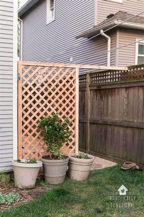 build  simple diy trellis screen  hide ugly areas