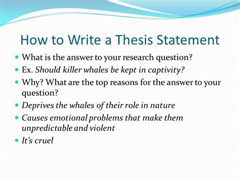 How To Write A Thesis Statement For Research Paper by How To Write A Research Paper Ppt