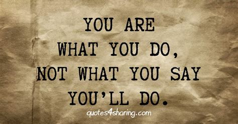 Do What You What You Do you are what you do not what you say you ll do