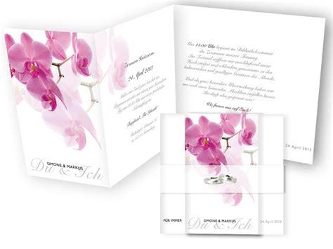 Hochzeitseinladung Orchidee by Hochzeitseinladung Pinke Orchidee
