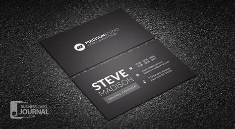 Minimalistic Business Card Template Free by Business Card Template Black Free Minimal Typography