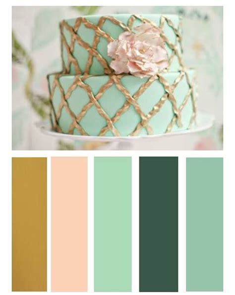 images  mint pink gold wedding