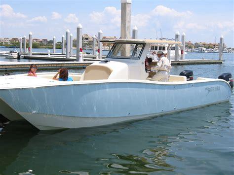catamaran boat forum mamba 350 test drive the hull truth boating and