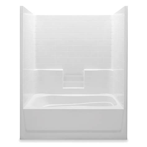 sterling ensemble 42 in x 60 in x 72 in standard fit bath and shower kit in white 71110120 0