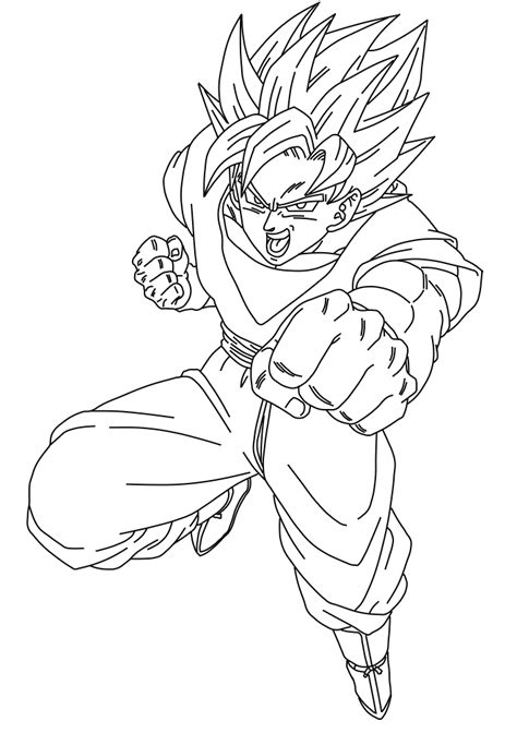 coloring pages goten ssj 10 coloring pages