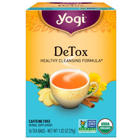 Yogi Detox Tea Recipe by Yogi Tea Detox Caffeine Free 16 Tea Bags 1 02 Oz 29 G