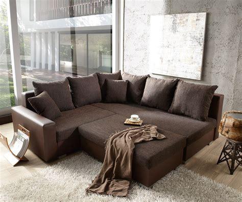 mit ottomane rechts sofa lavello dunkelbraun mit hocker 210x210 ottomane