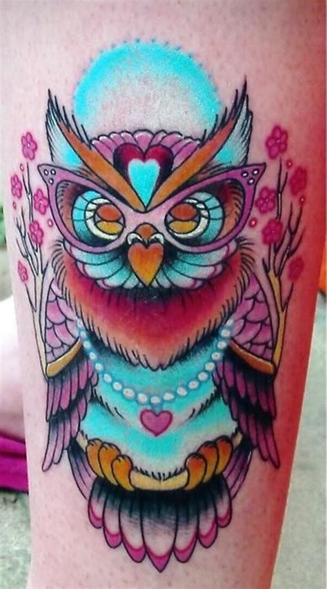 owl tattoo design color 40 cool owl tattoo design ideas with meanings