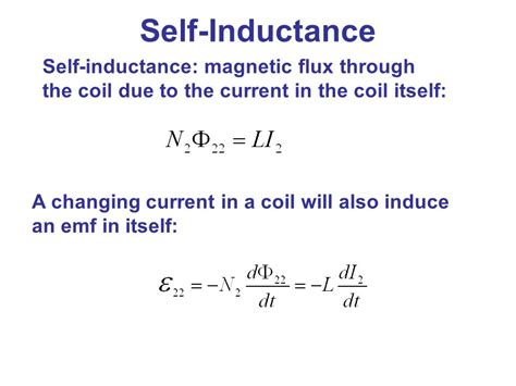 expression for current through inductor electromagnetic induction ppt
