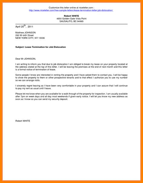 2 breaking lease letter sle teller resume
