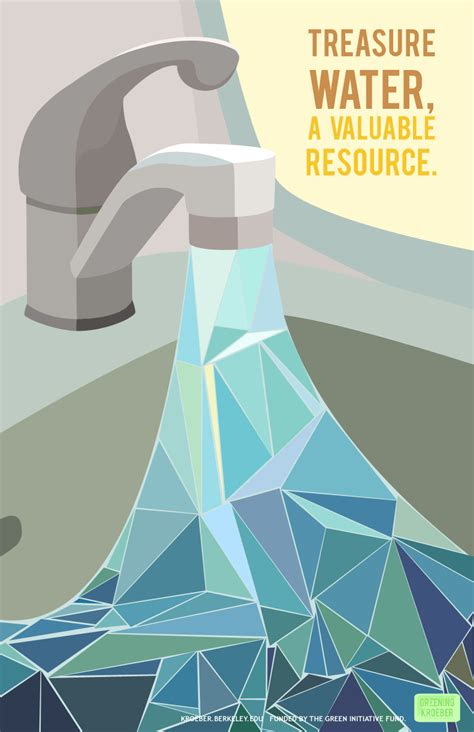 design poster save water posters of greening kroeber art studios and bathrooms
