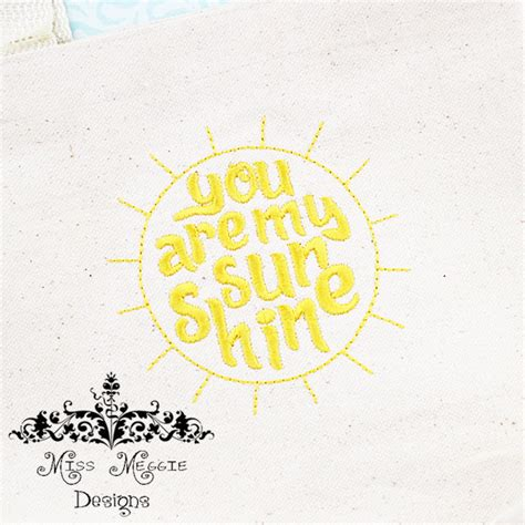 embroidery design you are my sunshine you are my sunshine ith redwork font embroidery design