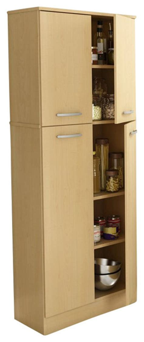 maple kitchen pantry cabinet south shore fiesta storage pantry in natural maple transitional pantry and cabinet