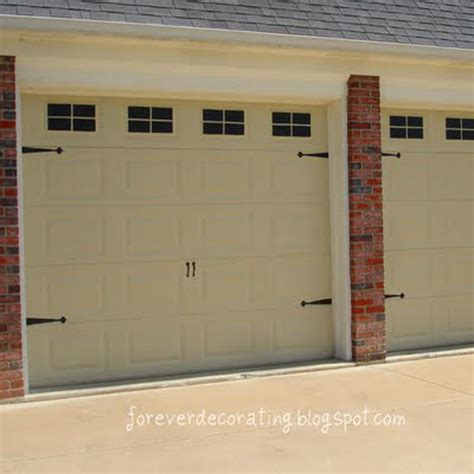 faux garage door painting remodelaholic easy faux carriage door tutorial