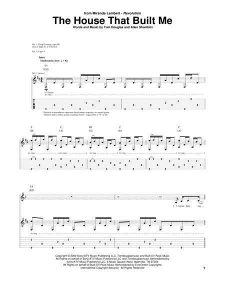 the house that built me sheet music download the house that built me sheet music by miranda lambert sheet music plus