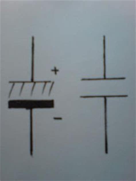 simbol kapasitor polar kapasitor