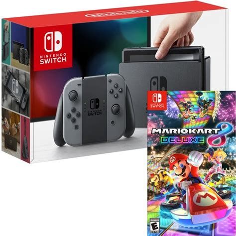 nintendo switch 32gb console and mario kart 8 deluxe digital best buy