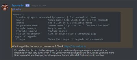 discord command list i coded a league of legends bot for discord welcome