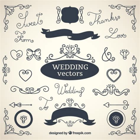 cute wedding decoration vector free download wedding decorations collection vector free download