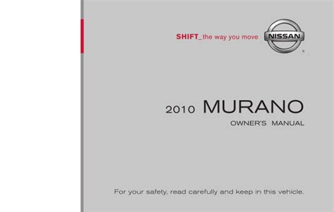 old car owners manuals 2010 nissan 370z user handbook 2010 murano owner s manual