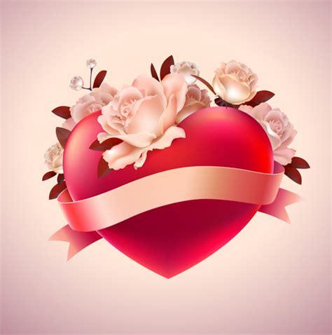 valentine hati merah latar belakang vektor kreatif vektor