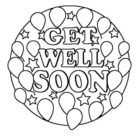 Get Well Printable Coloring Pages get well soon coloring page