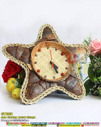 batok kelapa astry craft jam dinding batok kelapa souvenir pernikahan