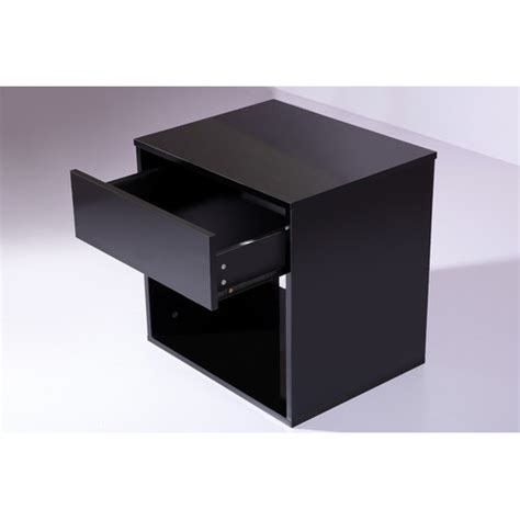 Basic Bedside Table S Design High Gloss Black Basic Bedside Table