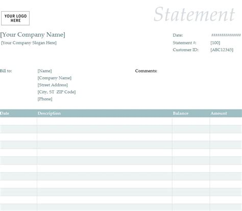billing statement sample billing statement