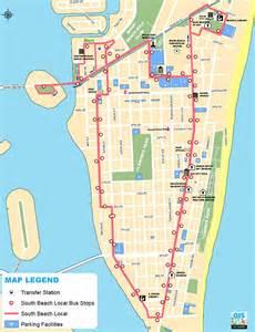 south beach local shuttle bus map south beach magazine