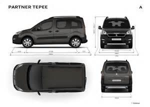 Peugeot Dimensions Peugeot Partner Tepee Dimensions Ext 233 Rieures Et