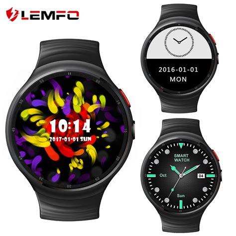 Lemfo Les 1 Android 5 1 1gb 16gb Smartwatch 2 0 Mp lemfo les1 android 5 1 smart phone support sim card