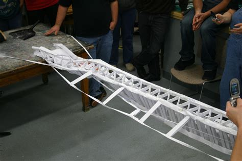 How To Make A Paper Bridge That Is Strong - 8 foot paper bridges