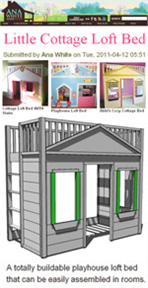 Cottage Loft Bed Plans by Diy Cottage Loft Bed Plans Woodworking Plans